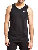 New Men's Nike Logo Sleeveless T-Shirt Vest Tank Top  Singlet - Black