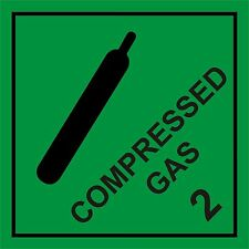 COMPRESSED GAS HAZARD WARNING SIGN MAGNETIC SIGNS
