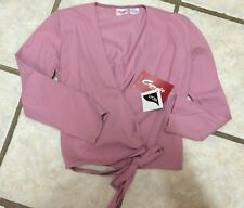 NWT Capezio Dark Pink Ballet Dance Wrap Top Warm Up Ladies Size M