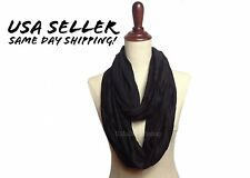 Unisex Women Men Solid Infinity Circle Scarf Cowl Loop Eternity Scarves