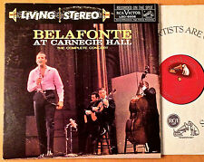 HARRY BELAFONTE AT CARNEGIE HALL RCA LIVING STEREO TAS PROMO RED SHADED DOG