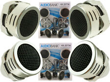 2 Pairs of New Model Chrome 600W Total Super High Frequency Mini Car Tweeters