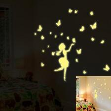 A Set Kids Bedroom Fluorescent Glow In The Dark Stars Wall Stickers  Free Ship
