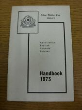 1973 Cricket: English Schools Association - Handbook. Thanks for taking the time