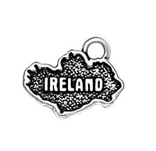 Map of Ireland Charm Sterling Silver Pendant Country Irish Celtic