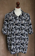 Navy Blue and Khaki Short Sleeve Double Breasted Shirt - Size 14 - Simon Jersey