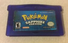 GAMEBOY ADVANCE Pokemon Sapphire Game - Needs Battery - 100% AUTHENTIC