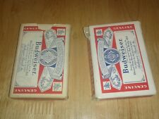 2 Vintage Playing Cards BUDWEISER Decks