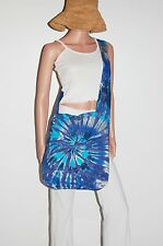 TIE DYE Shoulder Bag Blues Spiral Boho Festival Bag Grateful Dead tye die