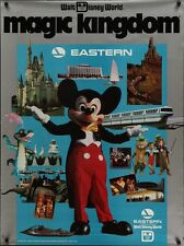 EASTERN AIRLINES WALT DISNEY WORLD Vintage 1983 Travel poster 30x40 MICKEY MOUSE