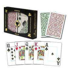 Copag Poker Size Regular Index 1546 Playing Cards (Green Burgundy Setup) New