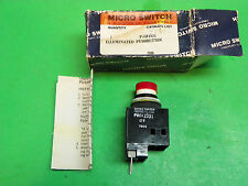 NOS* Micro Switch Illuminated Pushbutton Red  PWH1931  12V   B5