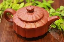 Chinese Tea Pot Yi Xin Pottery Gong Fu Handwork Clay Redware SunFlower Style T14