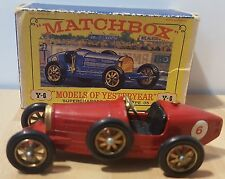 Matchbox Y-6 1926 Supercharged Bugatti Type 35 Red Models of Yesteryear Lesney