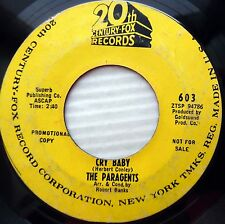 PARAGENTS cry baby Soda shop POPCORN Northern SOUL promo 20th Cent. Fox 45 mg617