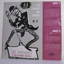 33 tours Jo PRIVAT Accordéon Disque Vinyle LP DANSE DU BALAI N° 3 - COLUMBIA 110