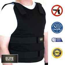VIP concealed carry bullet proof VEST KEVLAR Body Armor Level 3A L LARGE Black