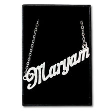 White Gold Plated Name Necklace - MARYAM - Gift Idea For Her - Personalized