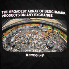 CME Group T-Shirt Medium Chicago Mercantile Exchange Trading Floor Futures Black