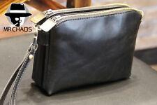 Men's Fashion Faux Leather Business Clutch Bag Handbag Wallet Purse Black