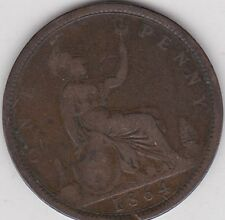 1864 VICTORIAN PLAIN 4 PENNY IN A WELL USED FINE CONDITION