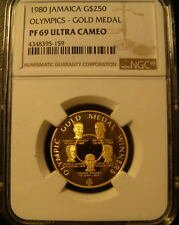 Jamaica 1980 Gold $250 NGC PF-69UC Olympics - Gold Medal Mintage - 902