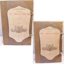 L'ENSEIGNEMENT PROFESSIONNEL DU MENUISIER LEON JAMIN T 1 1894 & T2 1896 PLANCHES
