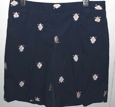 CORAL BAY GOLF 12 Walking SHORTS Navy BLUE Embroidered Metallic Clubs & Diamonds