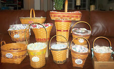 LONGABERGER Grandma Bonnie's May Series lLot  11 of the 14 Basket Set & extras