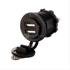 Motorcycle Car Cigarette Lighter Socket Dual USB Charger Power Adapter Outlet
