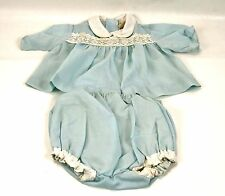 Vintage Blue Baby Outfit 50s Shirt and Diaper Cover Doll Clothes Old  Penneys