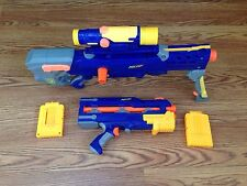 Nerf N-Strike Longshot CS-6 CS 6 Scope Front Gun 2 Clips 3 Feet!