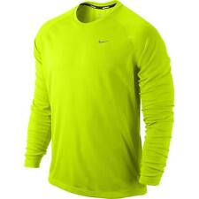 Nike mens Hi Viz Long Sleeve Running Top Fitness new free P&P