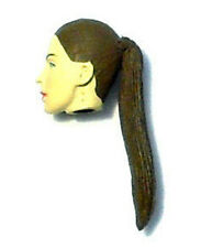 Nikova Female Action Figure Head Brown Hair Custom Fodder for Star Wars GI Joe