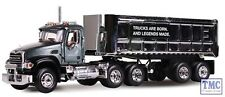 60-0296 1:64 SCALE Mack Granite with Chrome 22' End Dump Trailer Mack Trucks