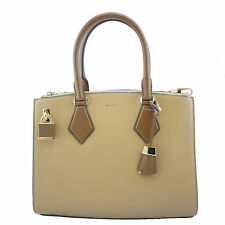 Michael Kors Casey Large Satchel Peanut Brown NWT Authentic