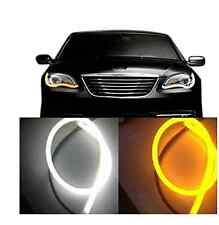 2x 85cm Flexible Car Soft Tube LED Strip DRL Daytime Running Turn Signal Light