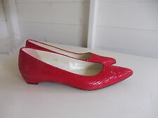 Lovely Russell & Bromley Red Flat Shoes Pumps Size EU37.5 UK 4.5 VGC