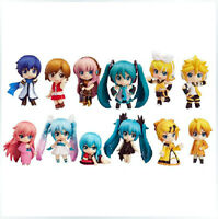 Anime Vocaloid Miku Hatsune Rin Luka set of 12 pcs Figures Cute PVC doll Figure