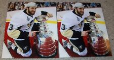 LOT OF 2 ALEX GOLIGOSKI SIGNED AUTOGRAPH PITTSBURGH PENGUINS CUP 8x10 PHOTOS
