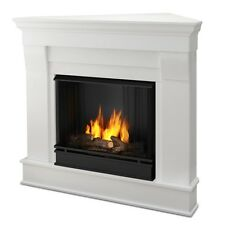 Real Flame Chateau Corner Ventless Gel Fireplace- White - 5950-W NEW