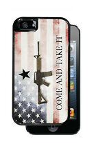 Iphone 5s Protective case Come And Take It with rifle And Faded American Flag