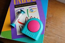 TABOO BUZZER TEAL&PINK + SAND TIMER 1989Tested & Works Game Parts Milton Bradley