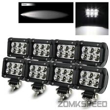"8PC Off Road 4"" 18W Hi-Power 6 LED Flood Light Bar 4x4/Jeep/Truck/ATV/Work Lamp"