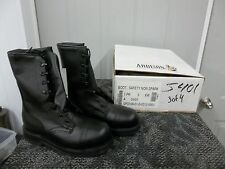 ADDISON MEN BOOT BLACK SAFETY SHOE STEELTOE SIZE 3 XW WIDE ADULT WORK NEW