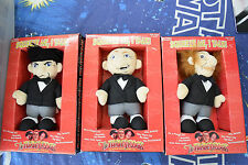 Three Stooges Talking Knuckleheads Set Moe Larry Curly In Box See Description