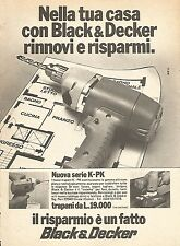 X0430 Black & Decker - Trapano - Pubblicità 1976 - Vintage advertising