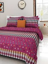 Homefabs 100% Cotton Double Bed Sheet with 2 Pillow Covers (DBS 076)