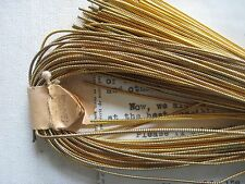AUTHENTIC FRENCH Vintage Gold Metal Thread Pearl Purl Jaceron Embroidery Stitch