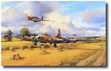 Out of Fuel and Safely Home by Robert Taylor - B-17 - P-51 Mustang - WWII